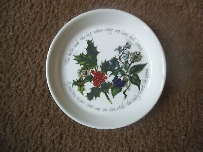 Portmeirion ~ The Holly And The Ivy ~ Pin Dish / Coaster  Vgc