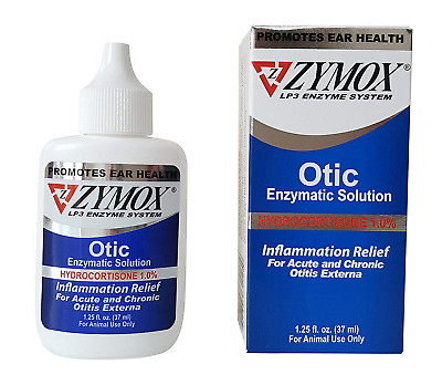 Zymox Otic Pet Ear Infection Treatment Hydrocortisone 1.25Oz