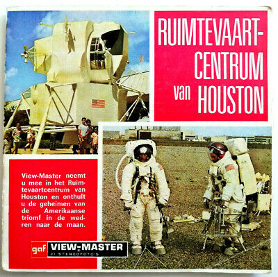 3x VIEW MASTER REEL / SPACECRAFT CENTER HOUSTON / NASA / MOON APOLLO RUIMTEVAART