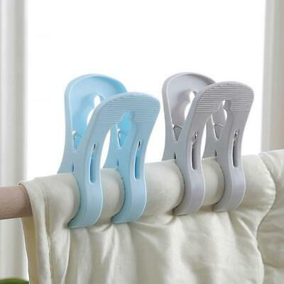 Laundry Clothes Towel Hanger Clamp Quilt Peg Windproof Drying Racks Clip W
