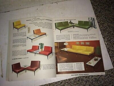 4 Vintage 50's/60's Office Furniture,Catalogs,Cole Steel,Mid Century Modern MCM