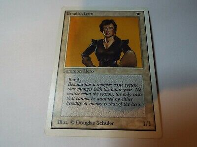 MAGIC THE GATHERING UNLIMITED CARD BENALISH HERO ex-nm