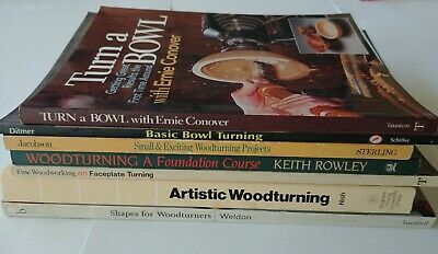 7 book Woodturning, Bowl Turnng Book and Pattern Lot