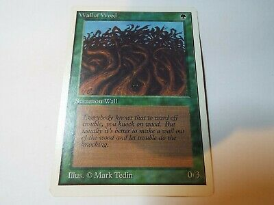 MAGIC THE GATHERING UNLIMITED CARD WALL OF WOOD, ex-nm