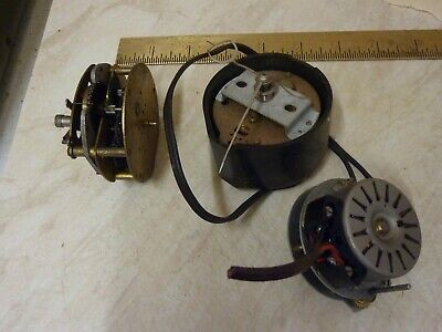 3 Old Electric Clock Movements -- Free Uk Post
