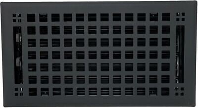 Madelyn Carter Artisan Flat Black Wall and Floor Vent Covers (Steel)