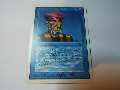 MAGIC THE GATHERING UNLIMITED CARD PRODIGAL SORCERER ex-nm