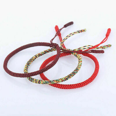 Rainbow Hand-woven Rope Bracelet Thread Braided Anklet DIY Handmade Jewelry
