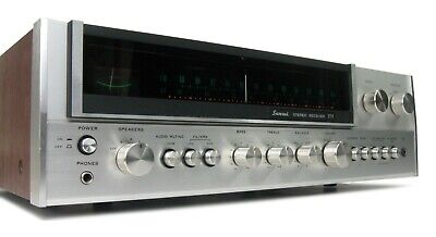 SANSUI MODEL 771 VINTAGE STEREO RECEIVER SERVICED w QS CARD * NICE!