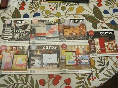 Lot Of 7 Cards -  Card Making Booklets  - Over 1100 Pages