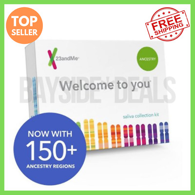 23andMe - Personal Ancestry DNA Kit with Lab Fee Included Fast FREE SHIPPING !