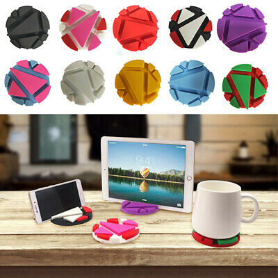 Multifunction Phone Holder Table Mat Silicone Cup Pad Support Bracket Coaster td