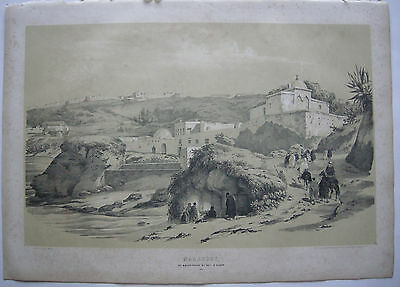 Algerien Algerie Marabout salpetriere Lithographie Bayot 1840 Nord Afrika