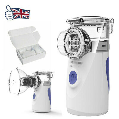 UK Portable Operated Replaceable Battery Ultrasonic Nebulizer Asthma & COPD