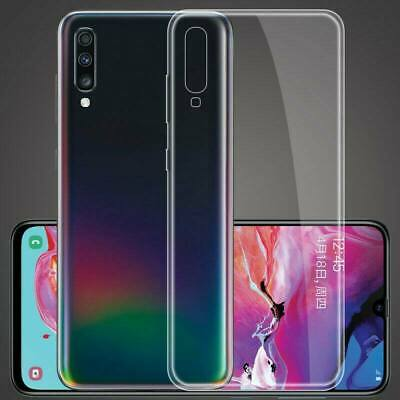 For Samsung Galaxy A70 A50 A40 Crystal Soft Clear Slim Silicone Phone Case Cover
