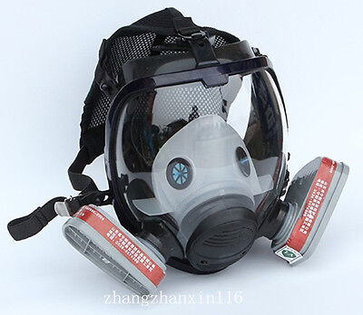 7 in 1 suit Facepiece Respirator Gas mask Spray paint chemical dustproof Mask