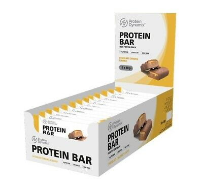 PD Chocolate Caramel Protein Bars 18 x 40g Low Sugar High Fibre Protein Snack