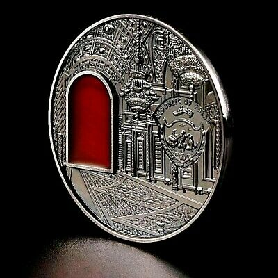 Kremlin Silver Coin Moscow Red Square Amber Window Army Russian Soviet Union 3D