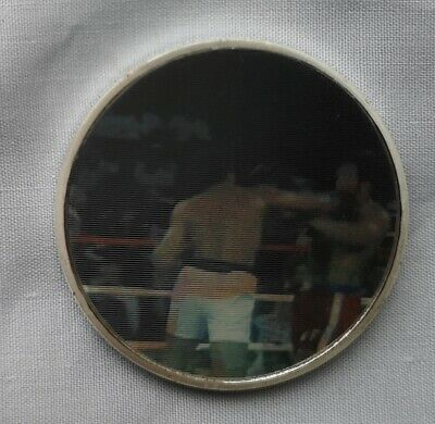 Muhammad Ali Gold 3D Coin Rumble in the Jungle Boxing Zaire Africa Medal Ring US