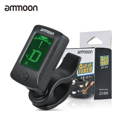 Digital Electronic Clip-On Tuner LCD Screen for Guitar Chromatic R5K1