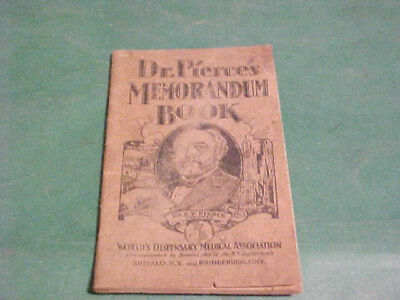 1929 Dr Pierces Memorandum Book Medical Advertisements