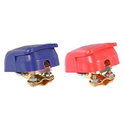 Quick Release Battery Clamp Connector Quick Disconnect Terminals Red Blue 1Pair