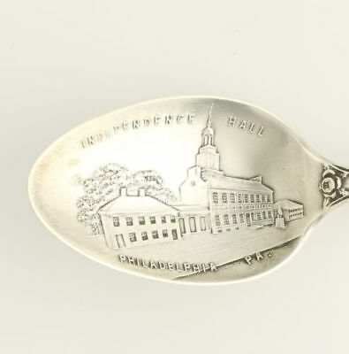 Philadelphia Souvenir Spoon - Sterling Silver Independence Hall PA Collectors