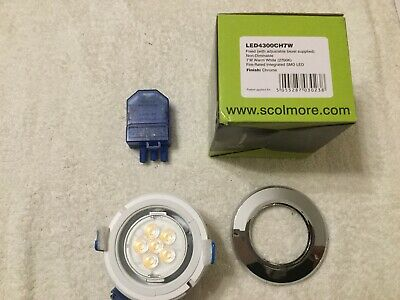 Scolmore Inceptor LED Downlight White Bezel Warm White LED4400WH7W