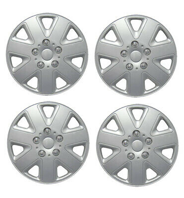 "15 Inch Universal Wheel Trims Car Covers Hub Caps Plastic 15"" Set Of 4"