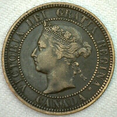1882 H Canada Large Cent 1c Copper Canadian One Cent Coin YG You Grade K65