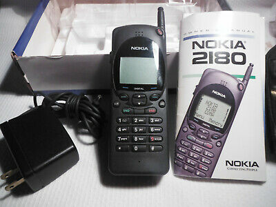 Vintage Nokia 2180 Cell Phone With Charger ~ 1998.