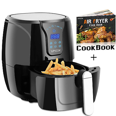 VPCOK Hot Air Fryer Without Oil w/ Air Fryers Cookbook LED Touch Display, Jet