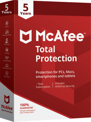 McAfee Livesafe 2019  05 Years  02 PCs instant email Delivery