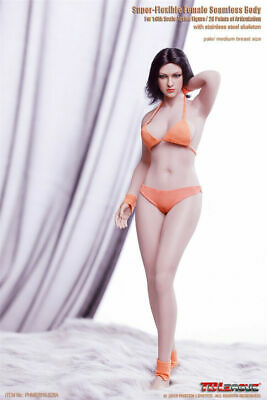 TBLeague S28A 1/6 Female Phicen Figure Body Model Pale Skin Mid Bust Seamless