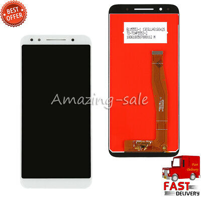 """White 5.5"""" For Alcatel 3 T-Mobile Revvl 2 5052W LCD Touch Screen Digitizer Part"""