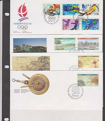 Canada FDC's 1992,Year Set ( 25 Covers - 8 Scans )