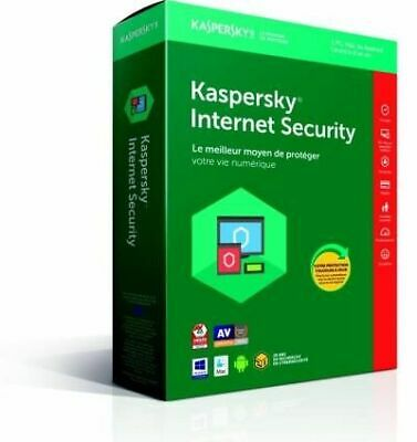 KASPERSKY - Internet Security 2018 1 Poste 1 An PC/Mac/Android/iOS NEUF