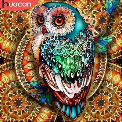 Diamond Painting Full Square Owl 5D DIY Diamond Embroidery Mosaic Picture Of ...