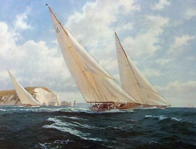 """Steven Dews """"Velsheda Off The Needles """" Limited Edition Print"""