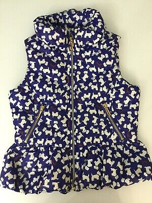 Juicy Couture Girls, Gilet Body Warmer, Age 10-12 Years Large, Blue, In Vgc