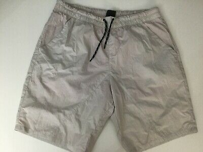 Armani Exchange Mens Swim Shorts, Small Mark On The Back, Size L, Grey, In Gc