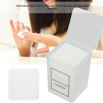 200Pcs Nail Art Manicure Polish Cotton Pads Remover Cleaner Wipe Lint Free Paper