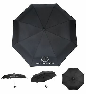 Umbrella Automatic Rain UV Protections Fold Windproof Long Double For Mercedes