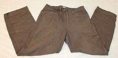 Relativity Size 10 Brown Casual Pants Slacks Straight Leg Womens Pants