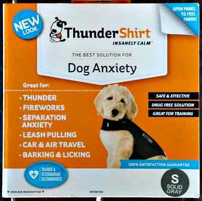 THUNDERSHIRT FOR DOG ANXIETY BEHAVIOR TRAINING GRAY SZ. S 15-25 lbs 4TH OF JULY!