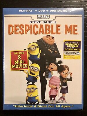 Despicable Me (Bluray/DVD/Digital HD) with Slipcover