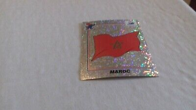 BADGE MASCOTTE SCUDETTO panini W C FRANCE 98  new back n 50 MAROC nuova velina