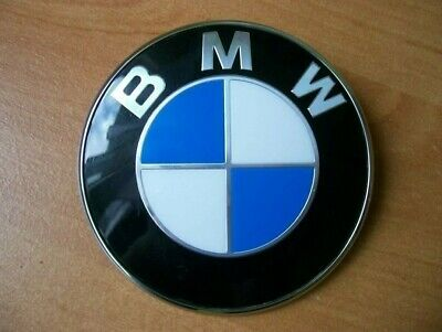 Genuine Bmw 82Mm Bonnet Boot Badge 51148132375 Blue/Wht - Fits Most Models