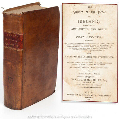 1808 The JUSTICE of the PEACE IRELAND Irish RM Antique History Common Law Book