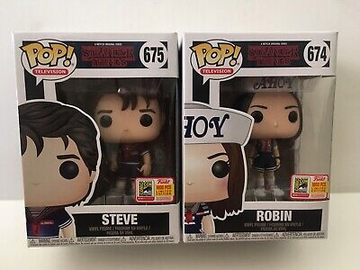 Stranger Things Scoops Ahoy Steve & Robin Funko Fundays SDCC 2018 LE 1800